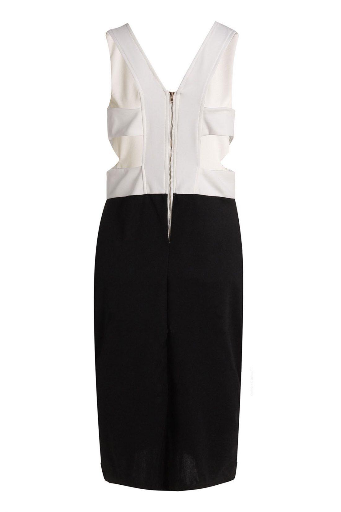 M0157 blackwhite2 Office Evening Dresses maureens.com boutique