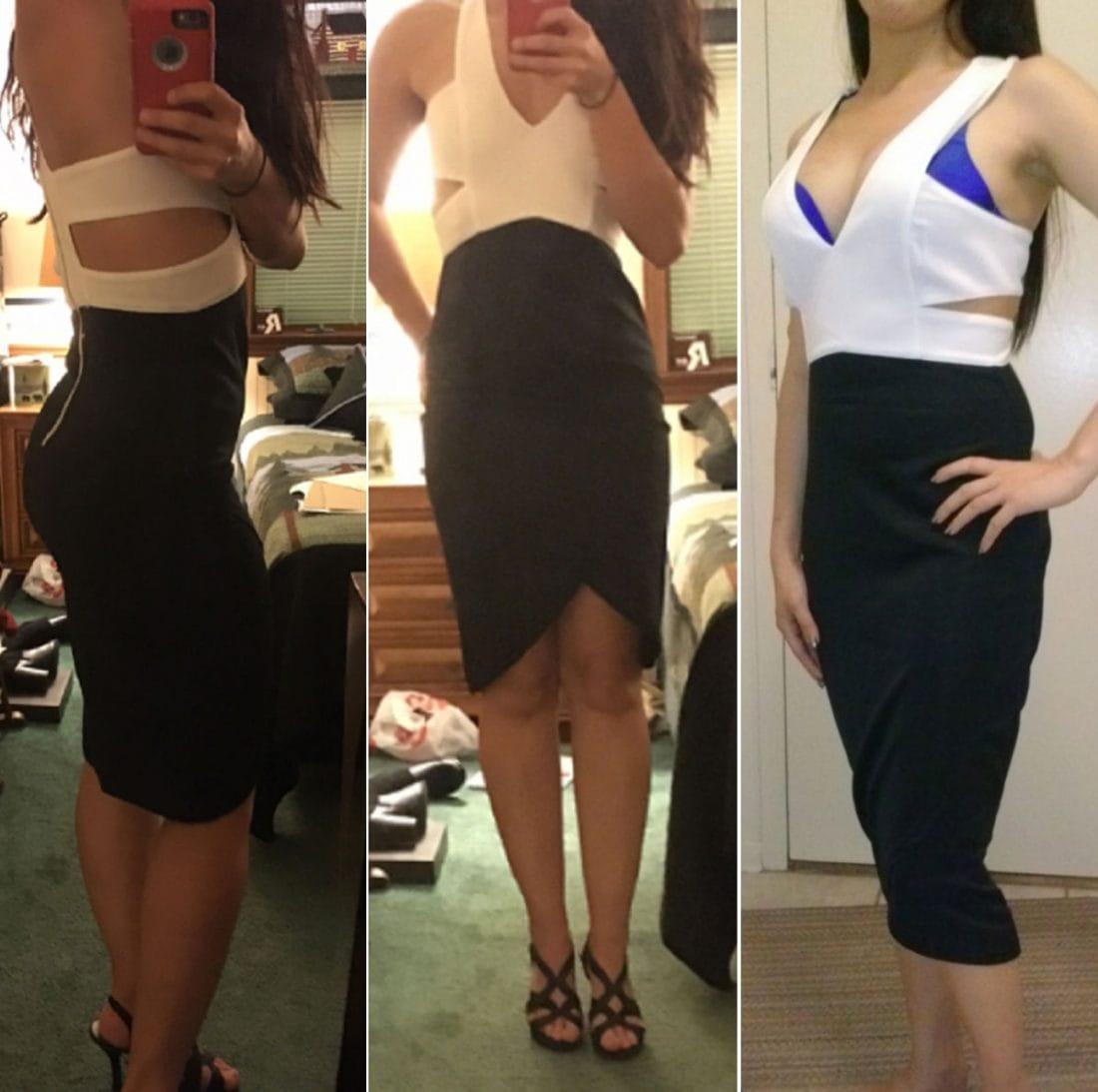 M0157 blackwhite5 Office Evening Dresses maureens.com boutique
