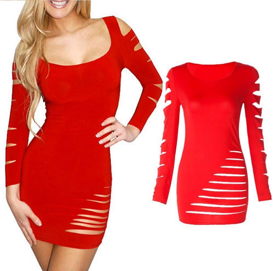 M0158 red1 Mini Dresses maureens.com boutique