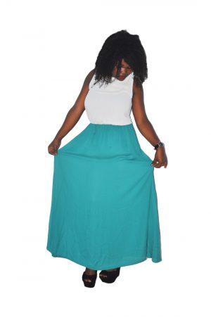 M0166 whitegreen1 Maxi Dresses maureens.com boutique
