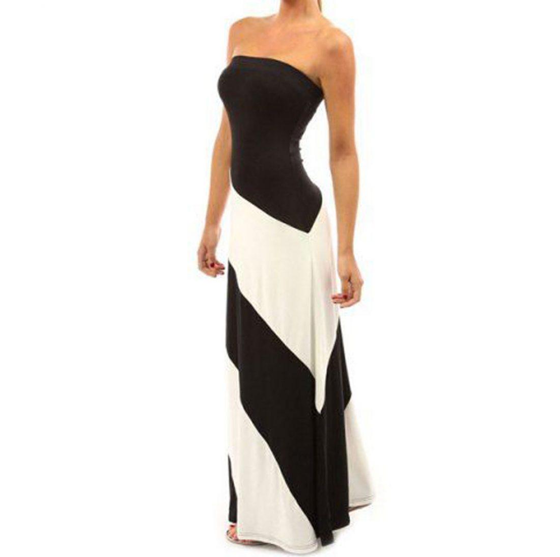 M0168 blackwhite1 Office Evening Dresses maureens.com boutique