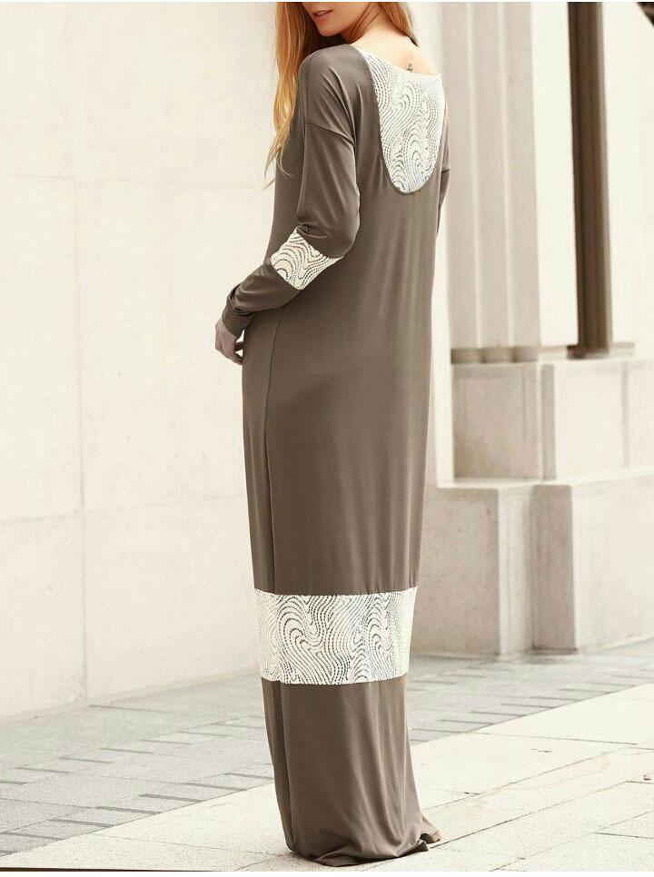 M0169 brownwhite1 Bohemian Dresses maureens.com boutique