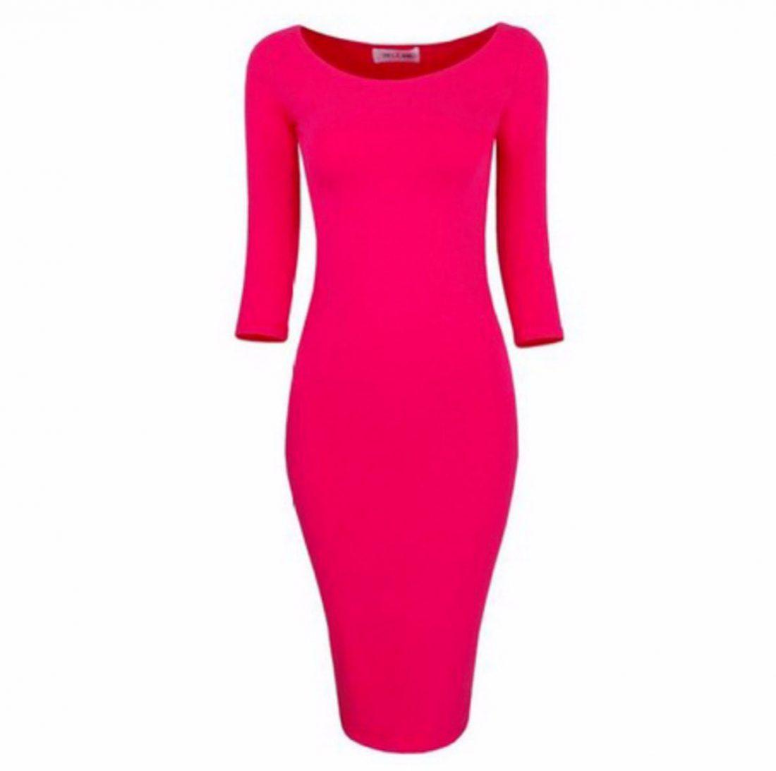 M0172 pink1 Midi Medium Dresses maureens.com boutique