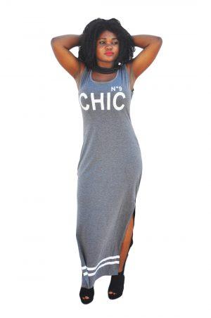 M0173 gray1 Sleeveless Dresses maureens.com boutique