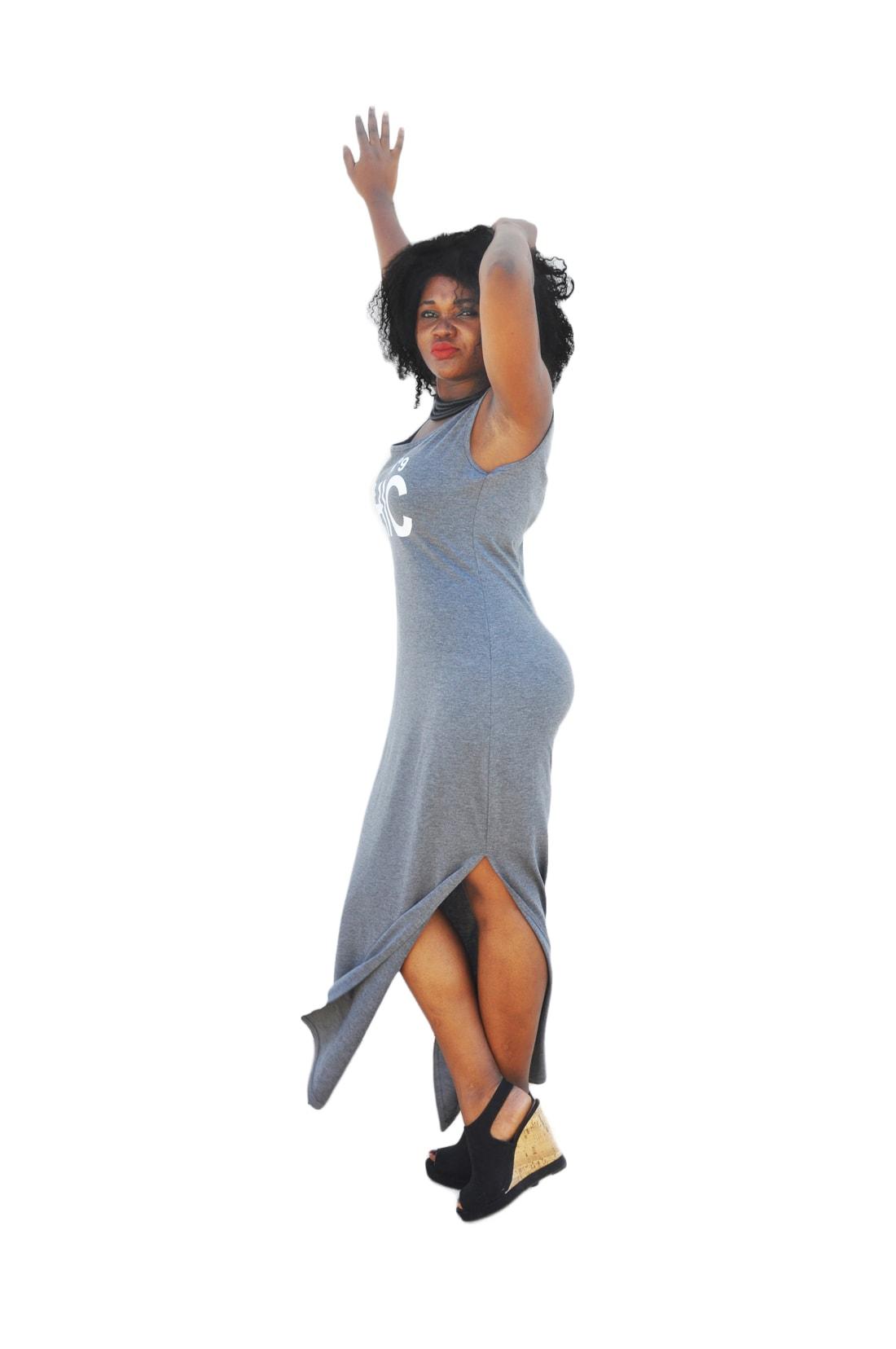 M0173 gray2 Sleeveless Dresses maureens.com boutique