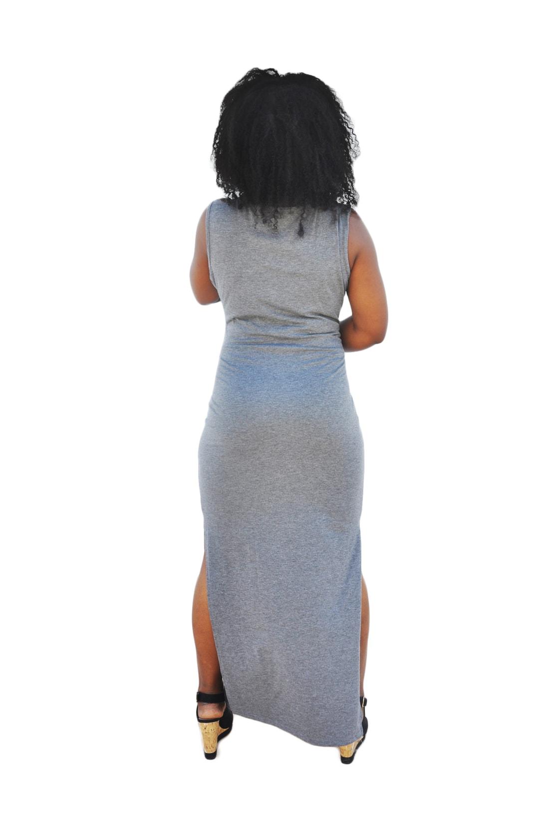 M0173 gray3 Sleeveless Dresses maureens.com boutique