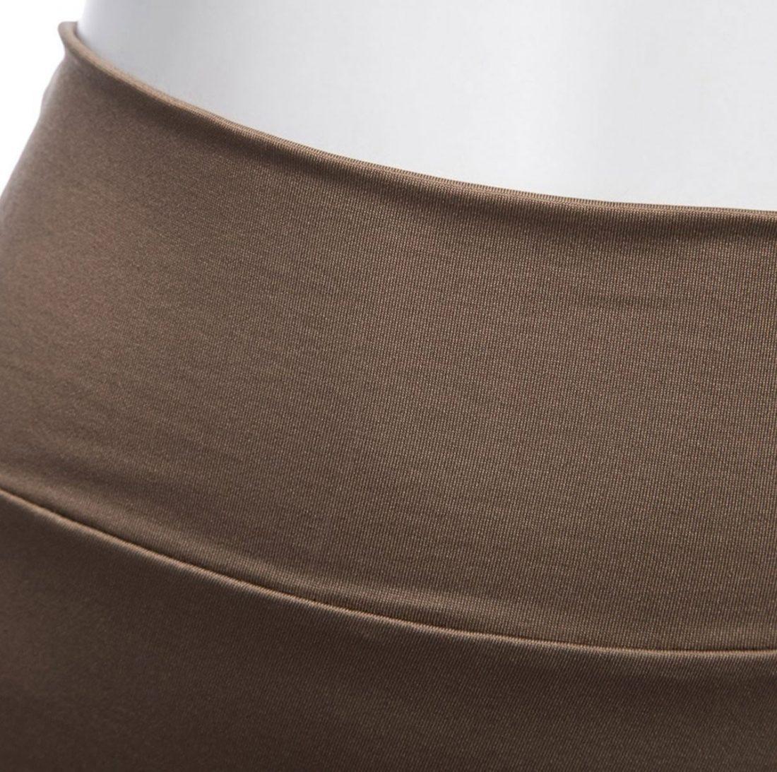 M0182 khaki5 Side Split Skirts maureens.com boutique
