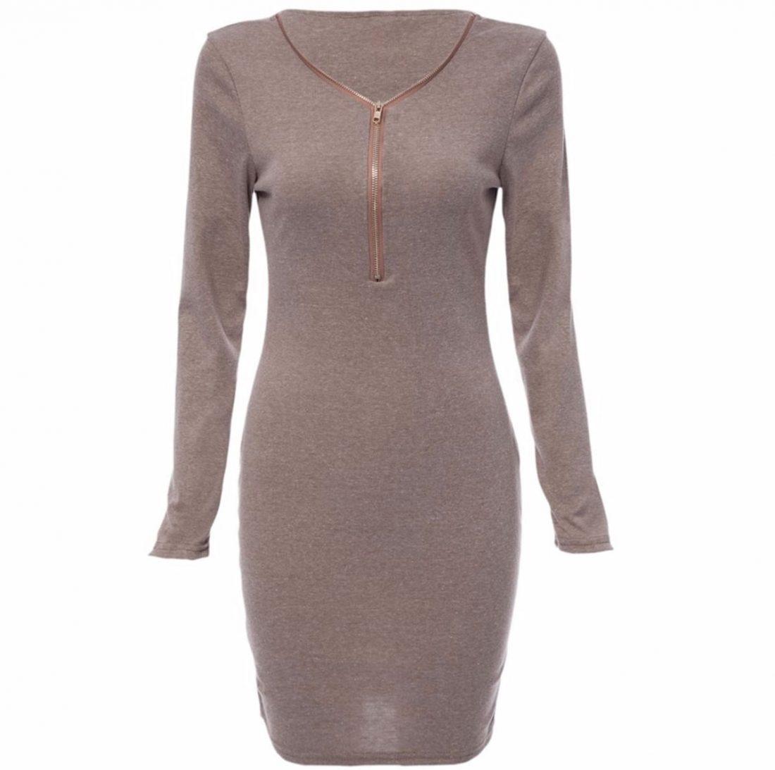 M0183 gray2 Long Sleeve Dresses maureens.com boutique