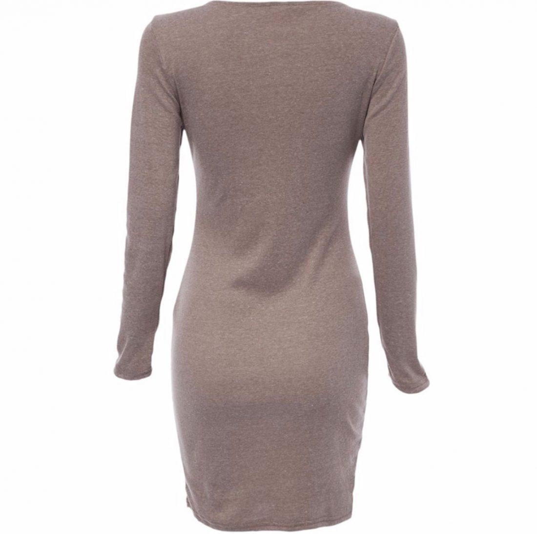 M0183 gray3 Long Sleeve Dresses maureens.com boutique