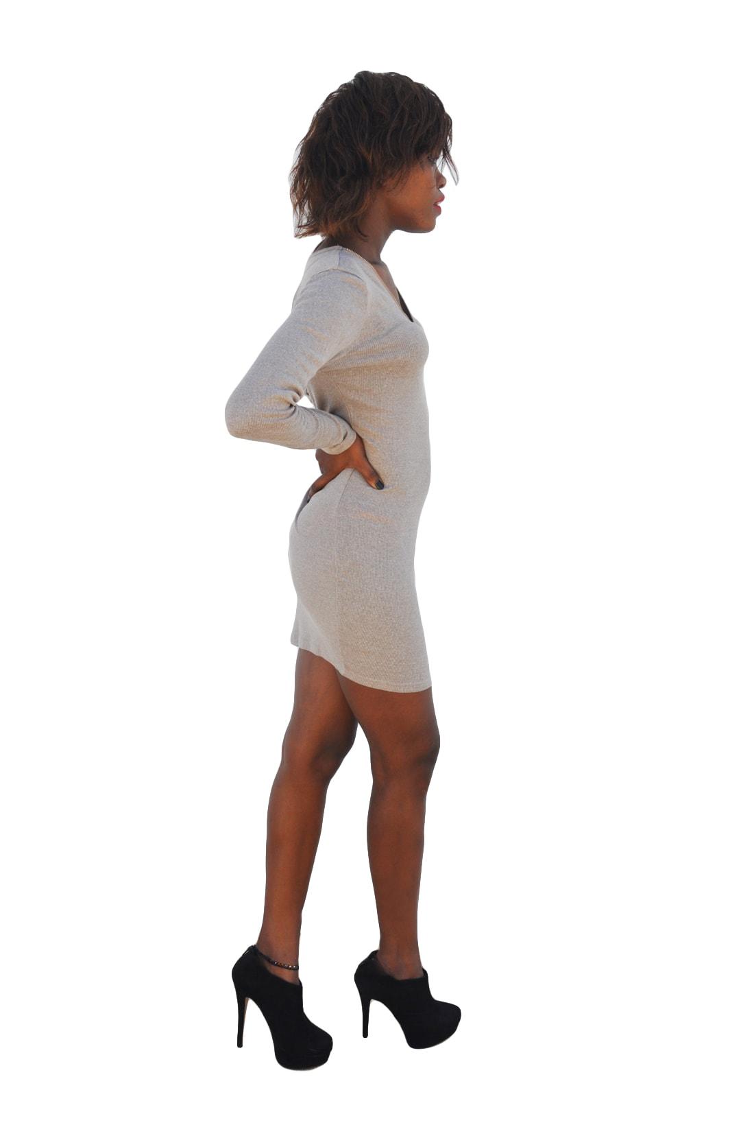M0183 gray9 Long Sleeve Dresses maureens.com boutique