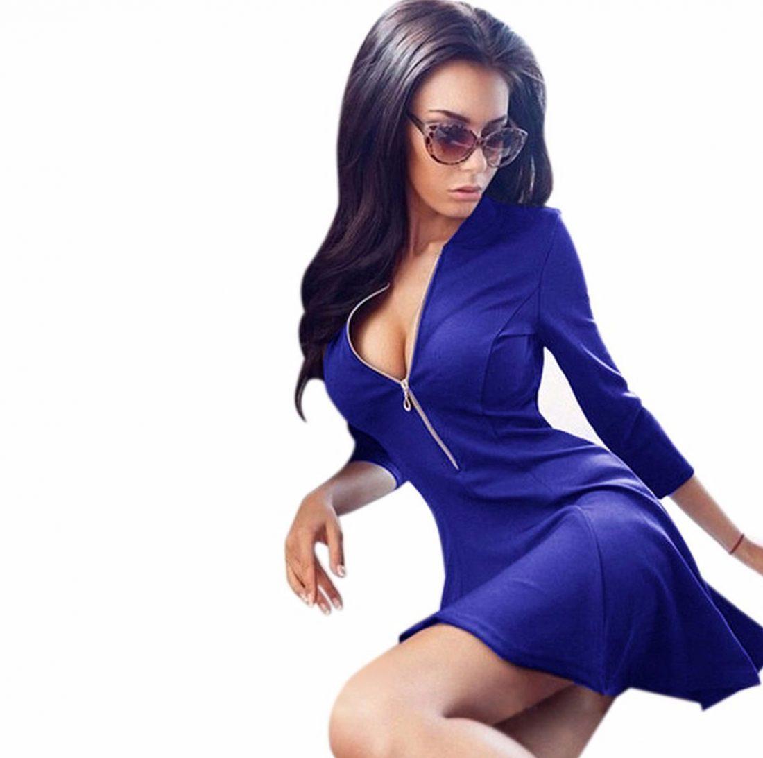 M0184 blue1 Leisure Dresses maureens.com boutique