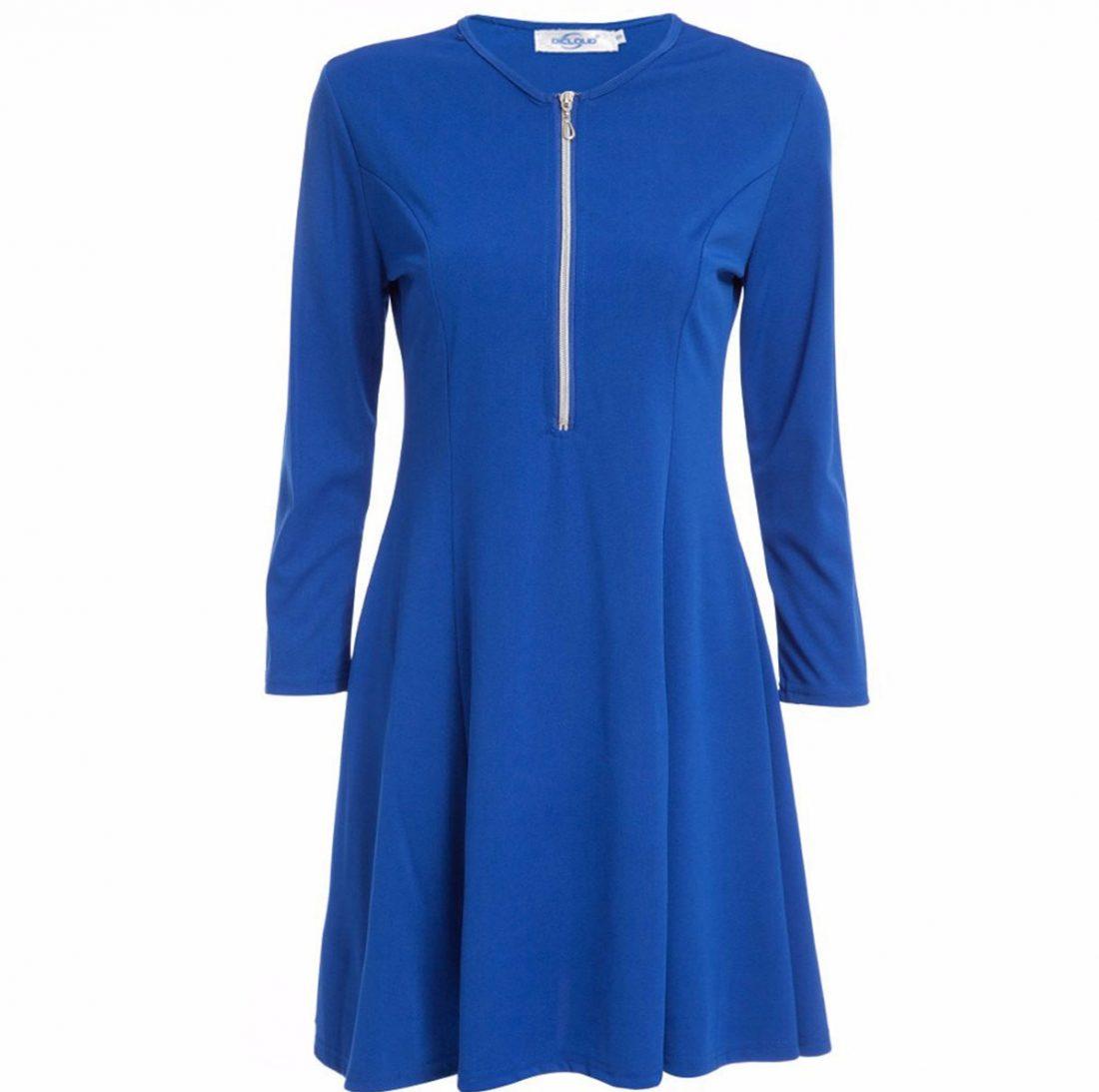 M0184 blue2 Leisure Dresses maureens.com boutique