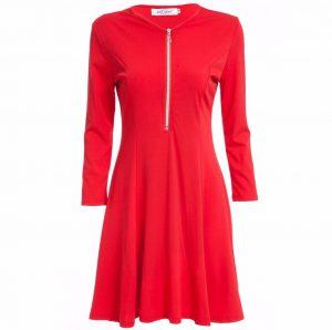M0184 red2 Leisure Dresses maureens.com boutique