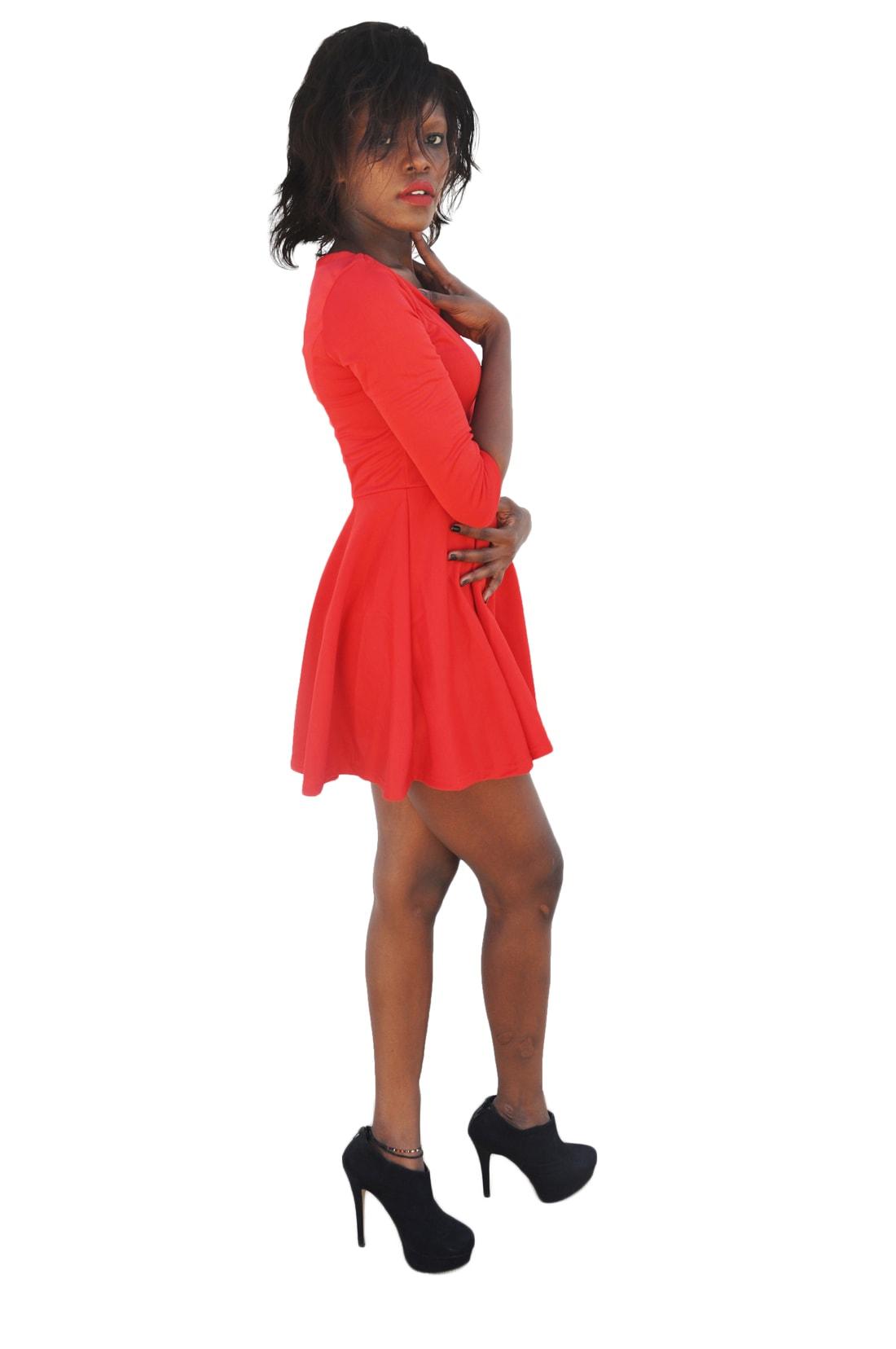 M0184 red3 Leisure Dresses maureens.com boutique