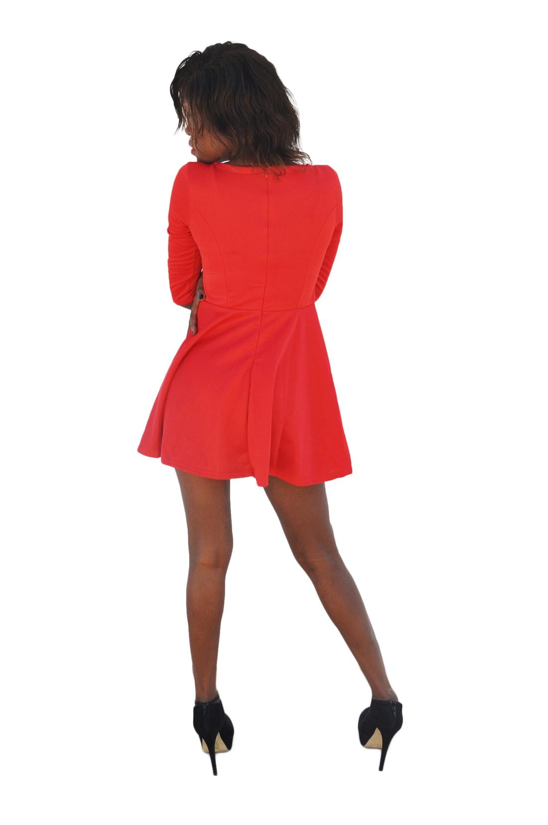 M0184 red4 Leisure Dresses maureens.com boutique