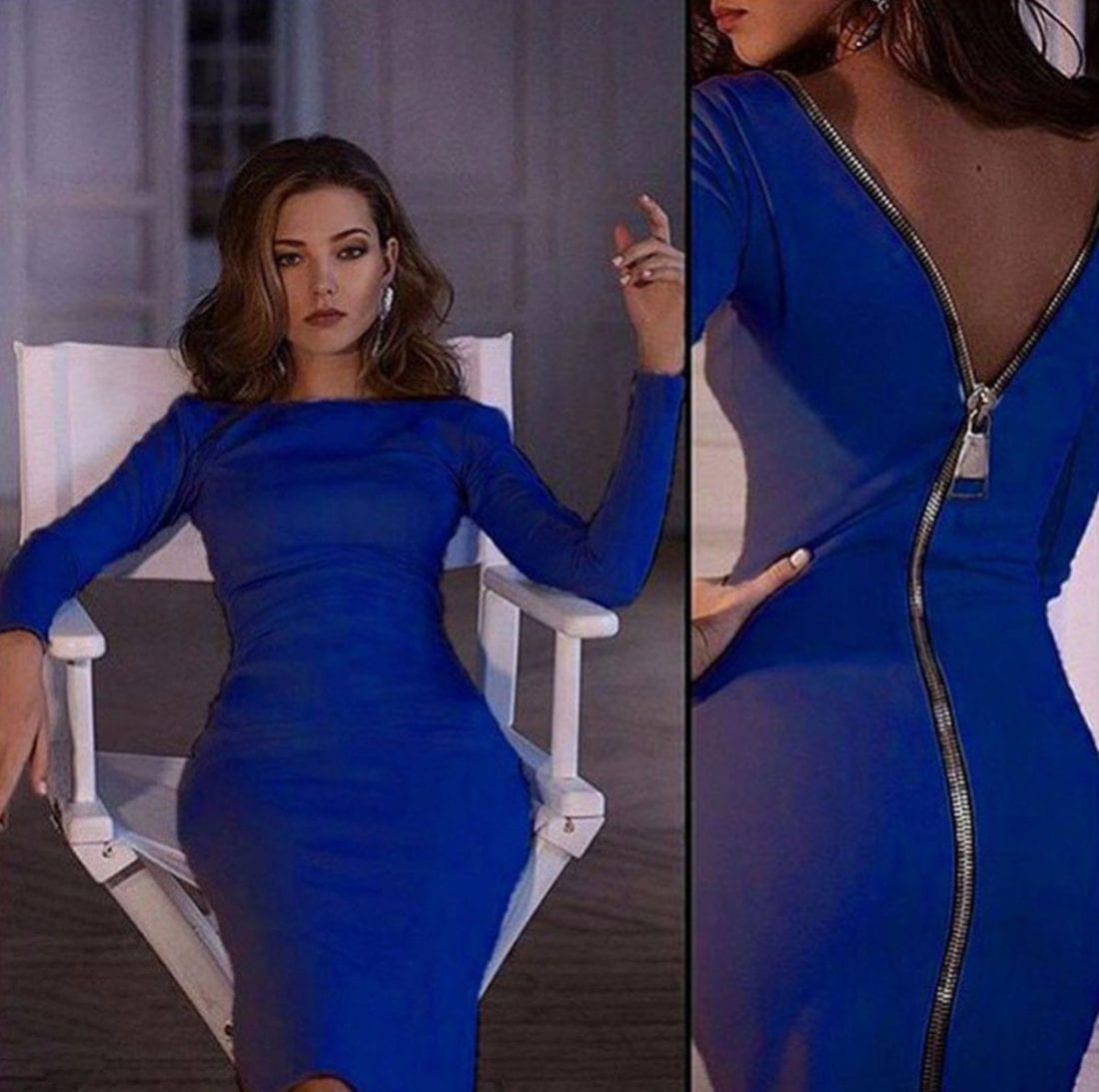 M0185 blue6 Office Evening Dresses maureens.com boutique
