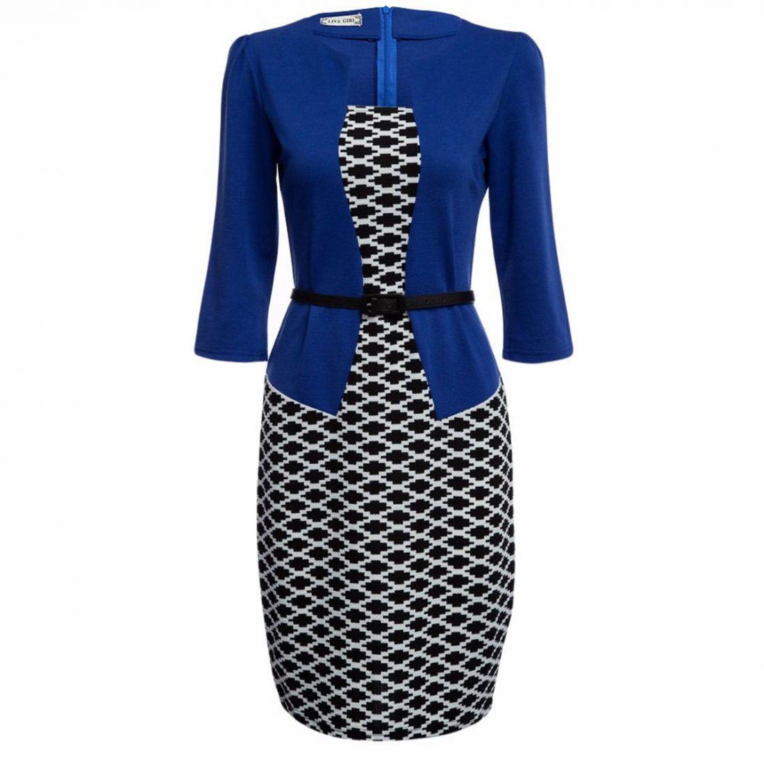 M0187 blueblack1 Office Evening Dresses maureens.com boutique