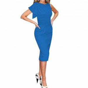 M0188 blue1 Short Sleeve Dresses maureens.com boutique