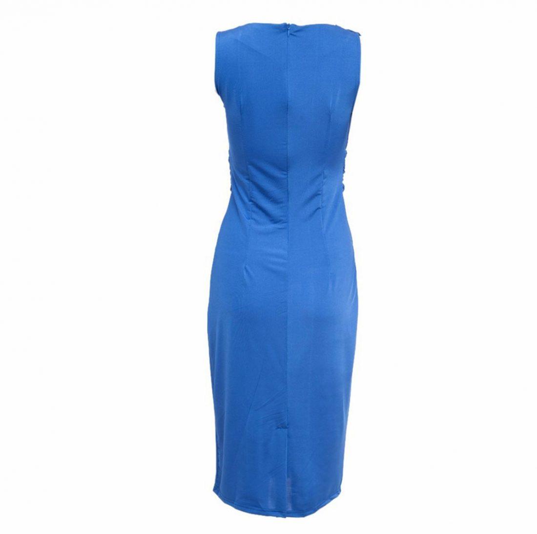 M0188 blue3 Short Sleeve Dresses maureens.com boutique