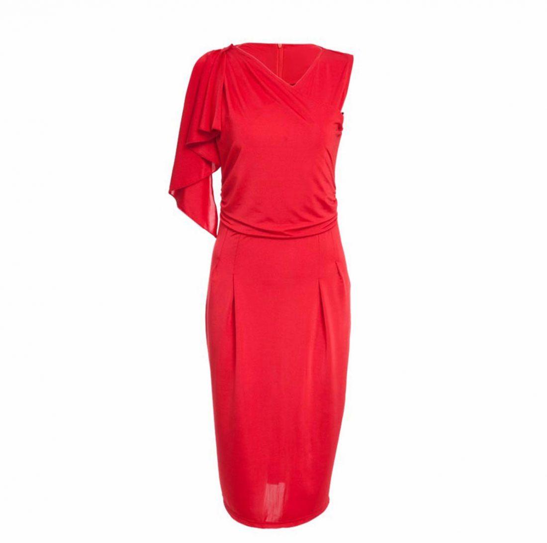 M0188 red5 Short Sleeve Dresses maureens.com boutique