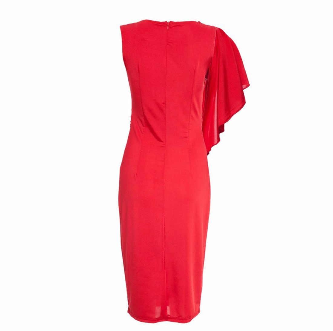 M0188 red6 Short Sleeve Dresses maureens.com boutique