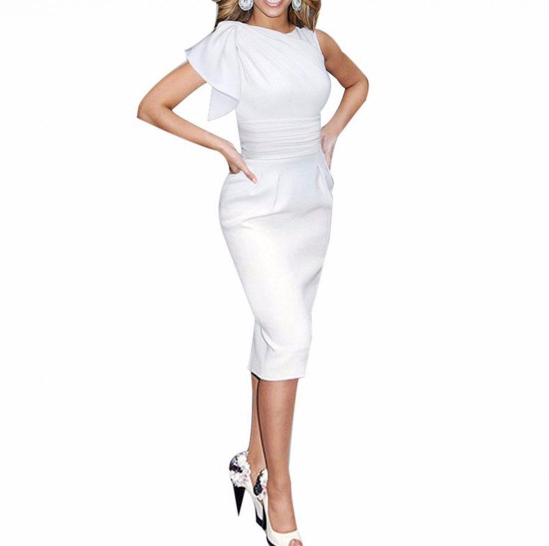 M0188 white1 Short Sleeve Dresses maureens.com boutique