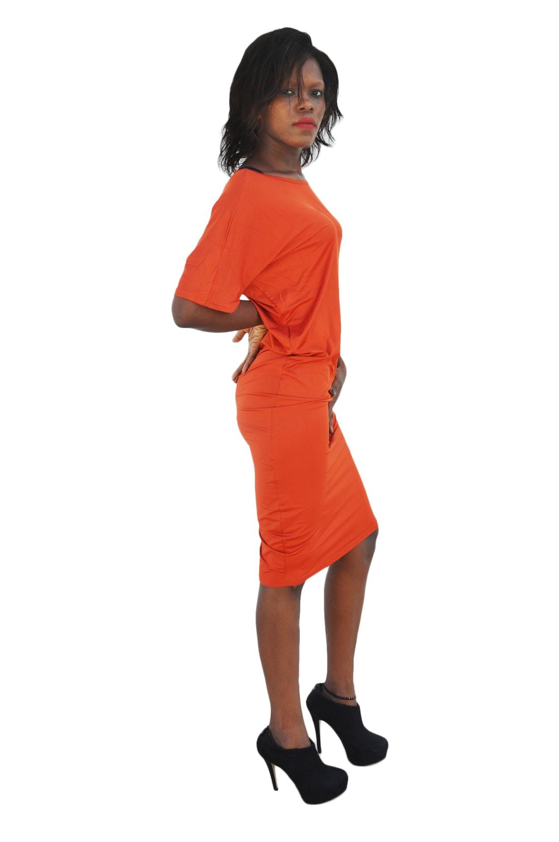 M0193 orange2 Party Dresses maureens.com boutique