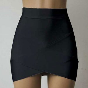 M0196 black1 Mini Skirts maureens.com boutique