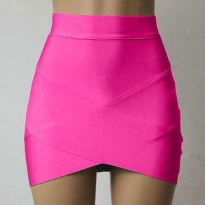 M0196 pink1 Mini Skirts maureens.com boutique