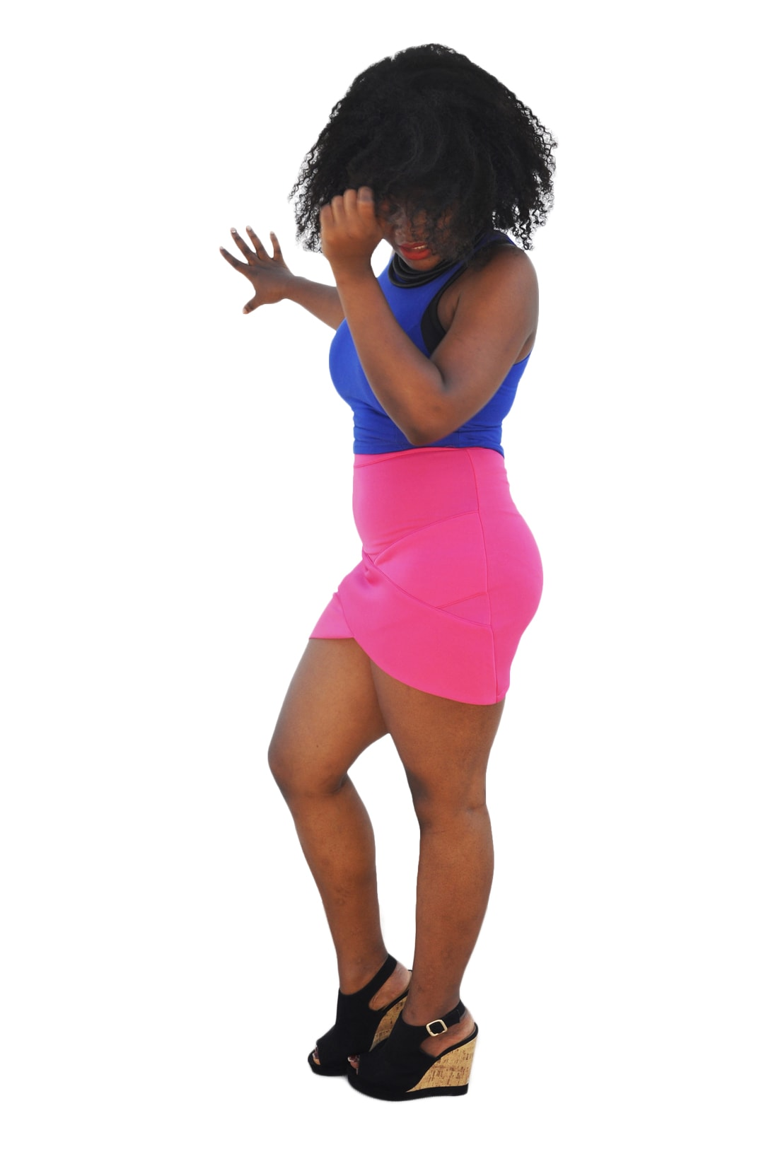 M0196 pink3 Mini Skirts maureens.com boutique