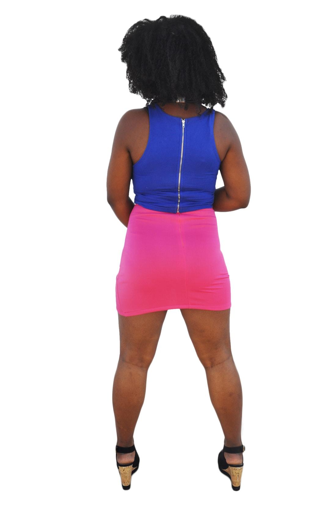 M0196 pink4 Mini Skirts maureens.com boutique