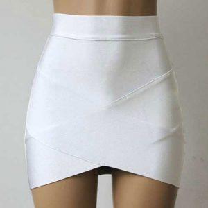 M0196 white1 Mini Skirts maureens.com boutique
