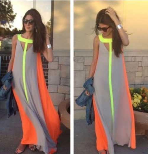 M0197 gray1 Bohemian Dresses maureens.com boutique
