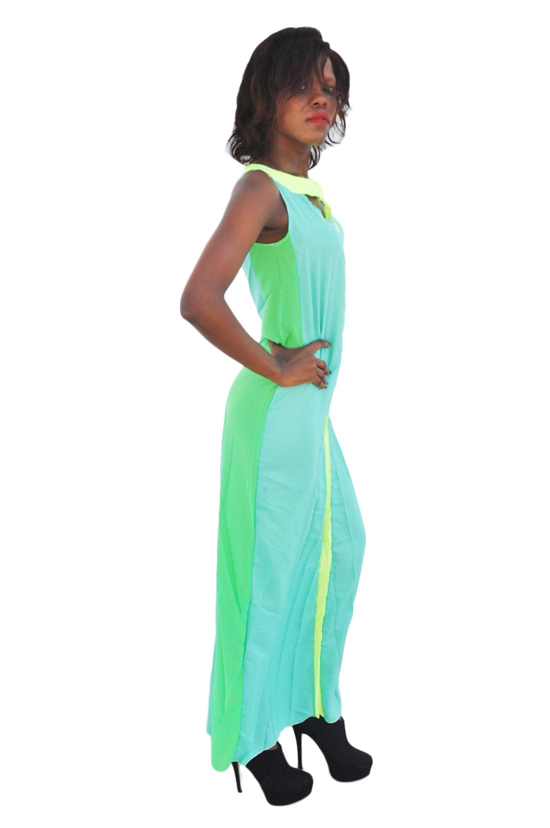 M0197 green2 Bohemian Dresses maureens.com boutique