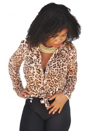 M0199 animalprint1 Blouses Tops Shirts maureens.com boutique