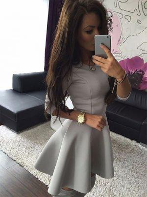M0200 gray1 Mini Dresses maureens.com boutique