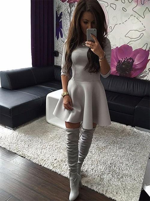 M0200 gray2 Mini Dresses maureens.com boutique