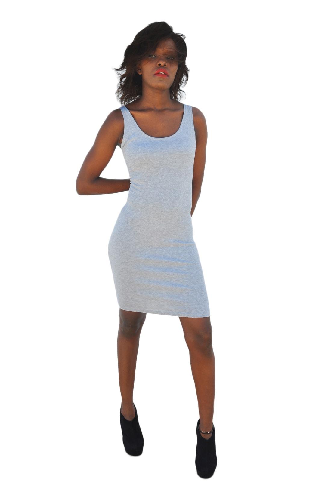 M0204 gray4 Sleeveless Dresses maureens.com boutique