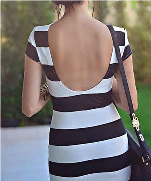 M0205 blackwhite3 Midi Medium Dresses maureens.com boutique