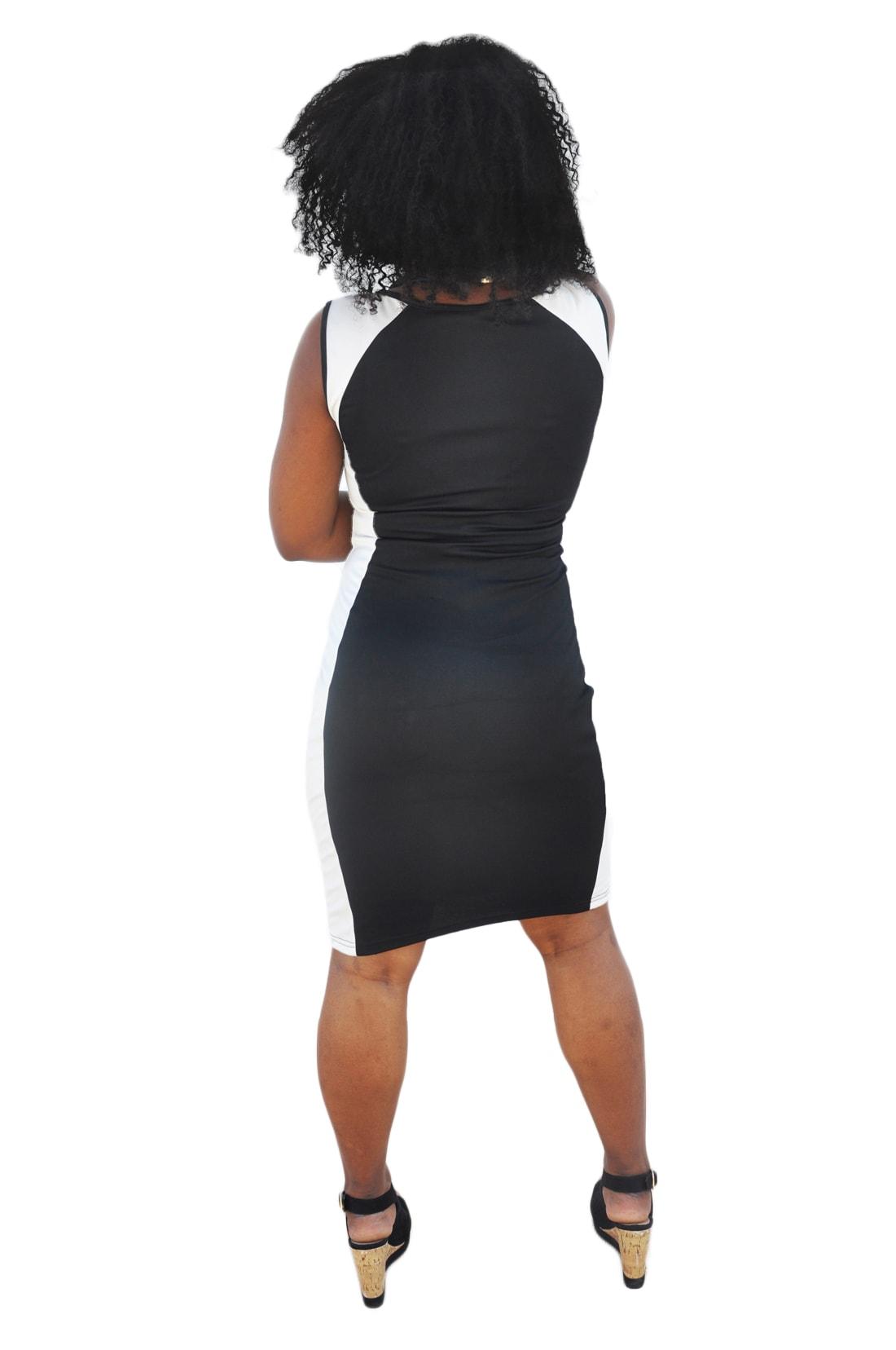 M0214 blackwhite3 Bodycon Dresses maureens.com boutique