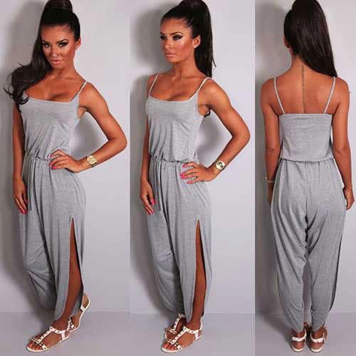 M0217 gray1 Sleeveless Dresses maureens.com boutique