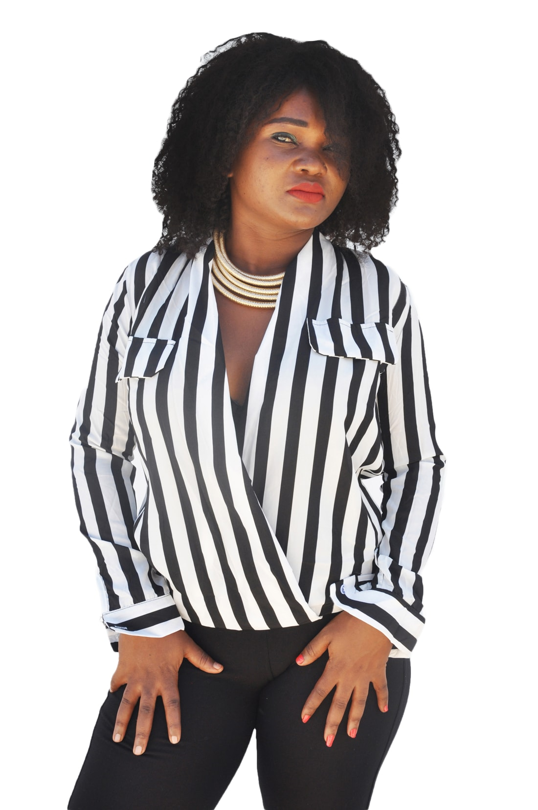 M0221 blackwhite1 Blouses Tops Shirts maureens.com boutique