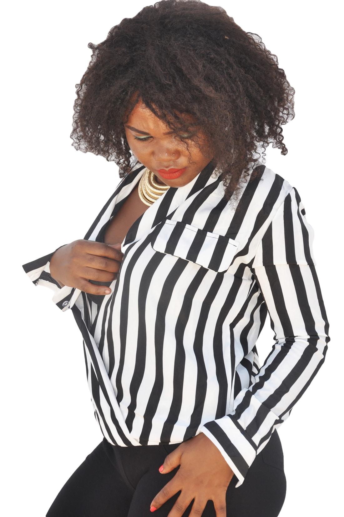M0221 blackwhite4 Blouses Tops Shirts maureens.com boutique
