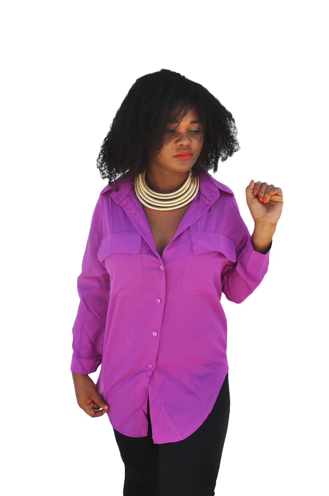 M0224 purple1 Long Sleeve Tops Shirts maureens.com boutique