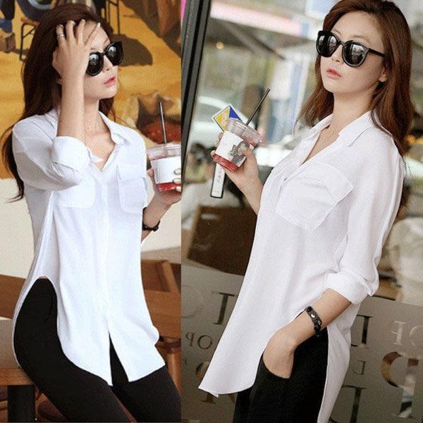 M0224 white1 Long Sleeve Tops Shirts maureens.com boutique