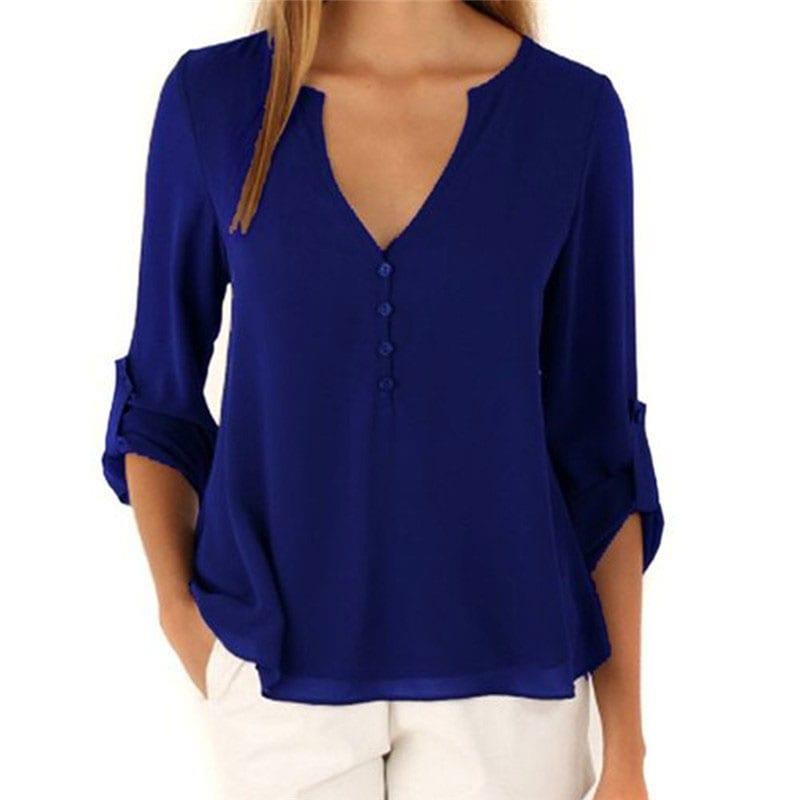M0225 blue1 Blouses Tops Shirts maureens.com boutique