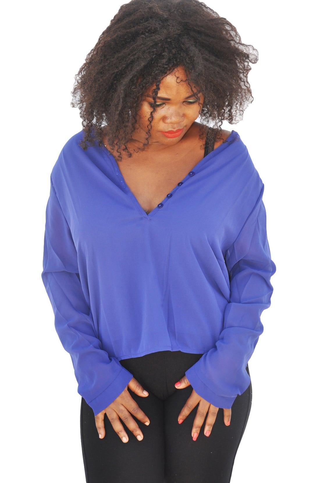 M0225 blue3 Blouses Tops Shirts maureens.com boutique