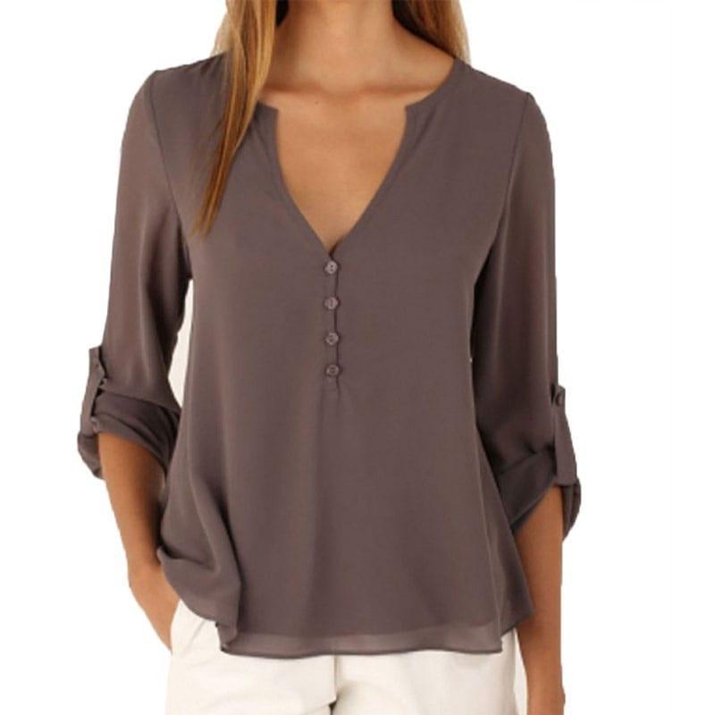M0225 gray1 Blouses Tops Shirts maureens.com boutique