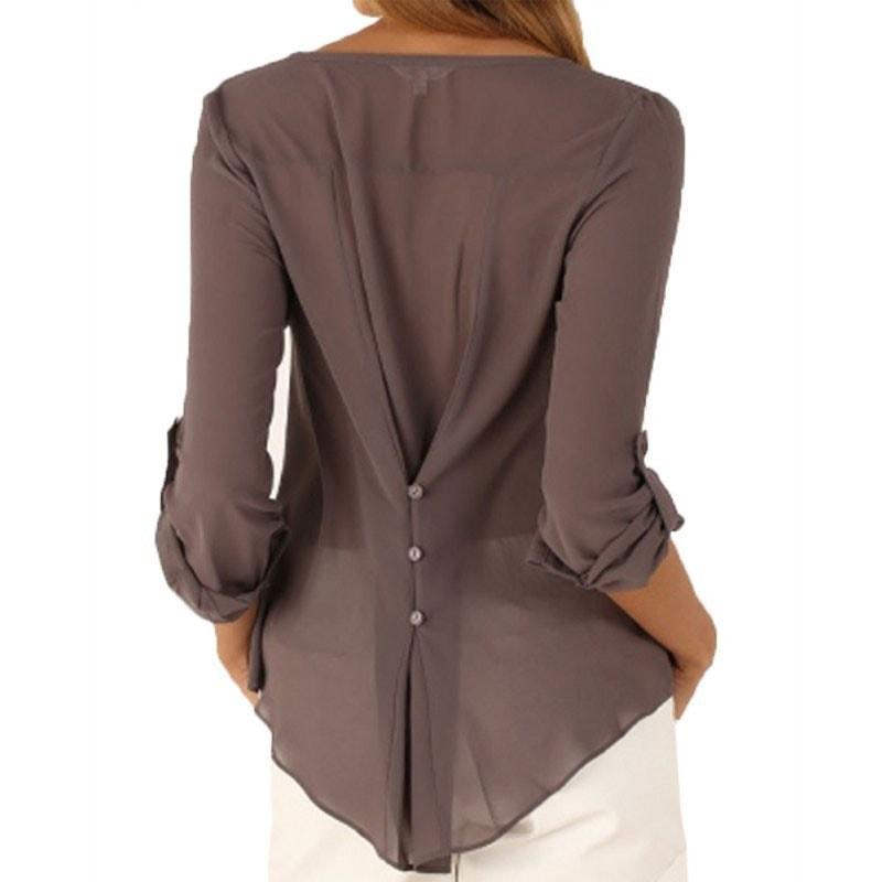 M0225 gray2 Blouses Tops Shirts maureens.com boutique