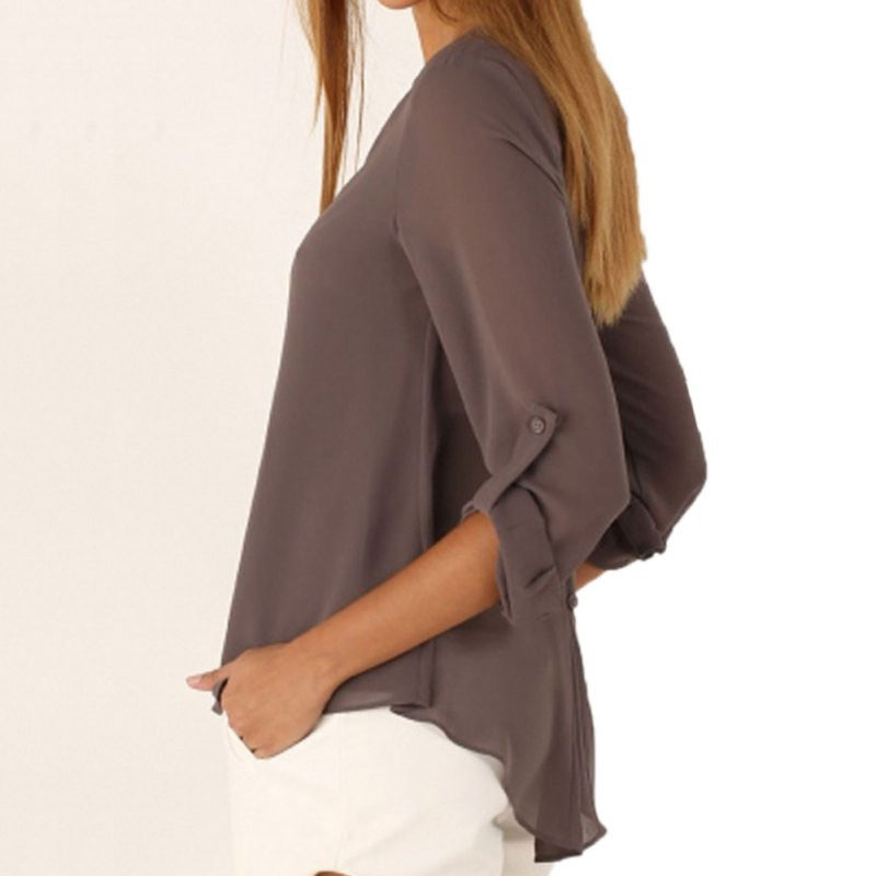 M0225 gray3 Blouses Tops Shirts maureens.com boutique